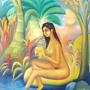 Woman In Mangrove