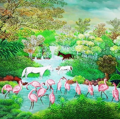 Horses and Flamingos