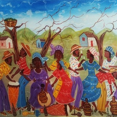 Villagers Dancing and Celebrating
